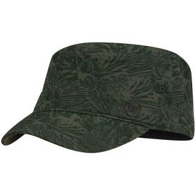 Buff Military Bonnet, checkboard moss green